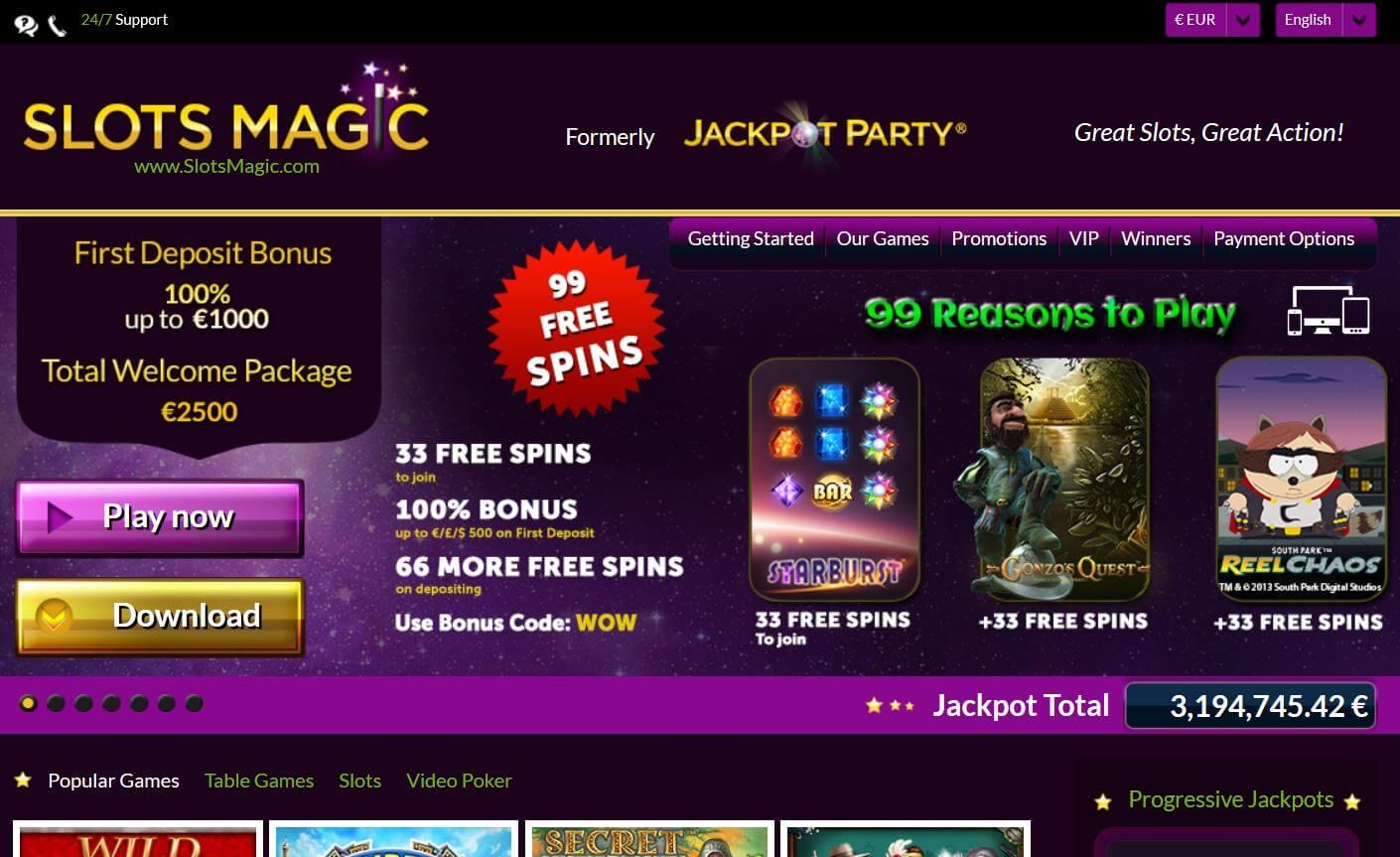 20 No Deposit Free Spins on Wizard of Oz Play slots