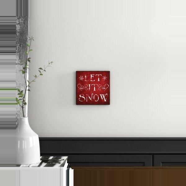 East Urban Home Gerahmtes Poster Let It Snow | Wayfair.de – My Winter Break 2020