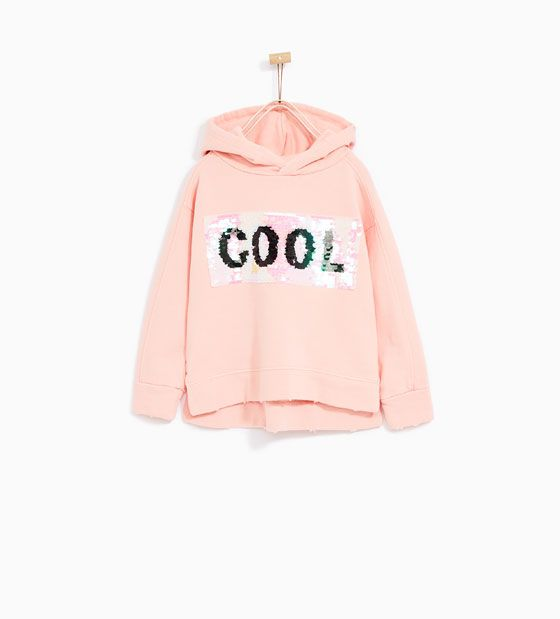 Zara Sale Sequinned Sweatshirt Roupas Zara Moda Infantil Roupas