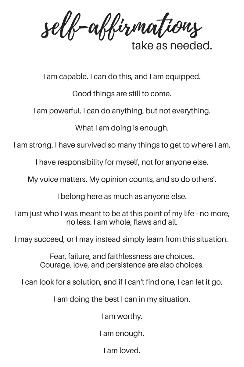 Self Affirmations And Why We Need Them Pinterest Affirmation