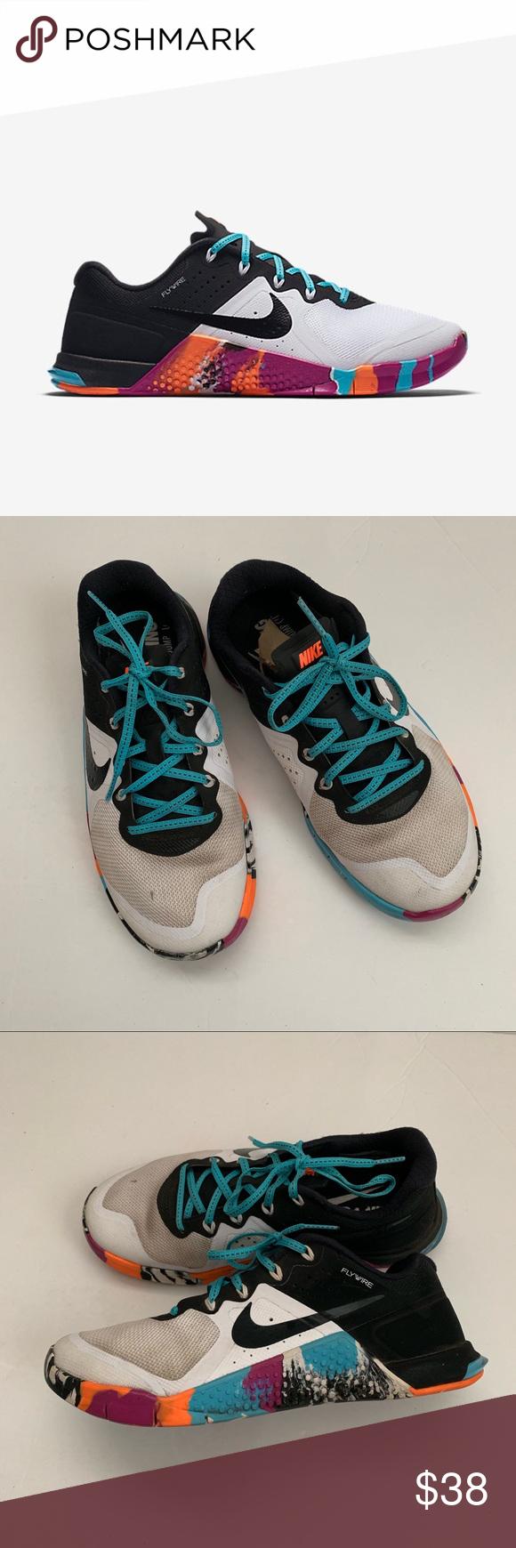 Nike FLYWIRE Metcon 2 MULTICOLOR size 6