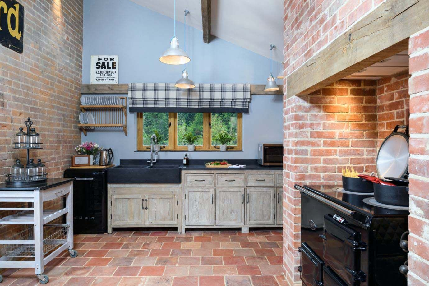 Pin On Red Brick In The Kitchen