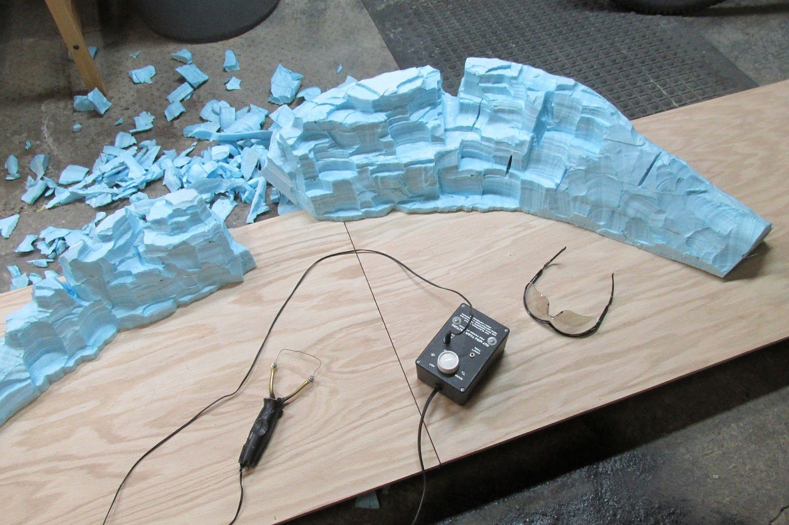 The art of todd gamble: sculpting mountains from foam panels forced