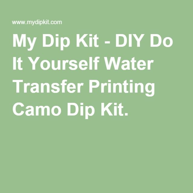 My dip kit diy do it yourself water transfer printing camo dip my dip kit diy do it yourself water transfer printing camo dip kit solutioingenieria Choice Image