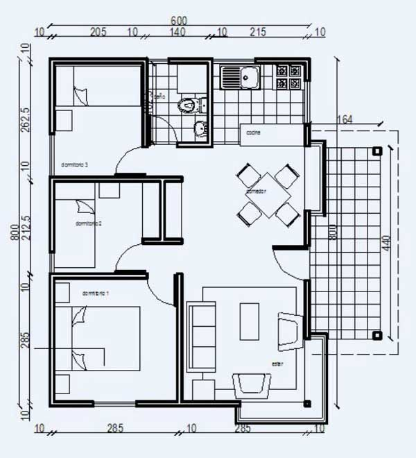 Plano casa de madera ver planos gratis planos cad social - Cad casa gratis ...