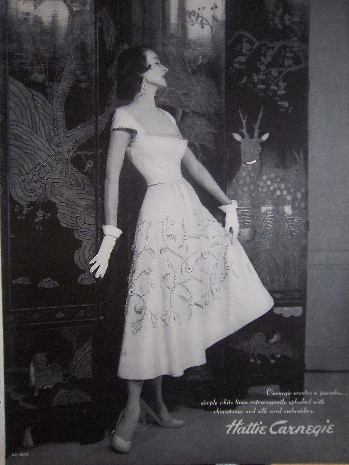 1950 Vintage Hattie Carnegie Womens Dress Fashion Oriental Screen Backdrop Fifties Fashion Vintage Couture Vintage Glamour