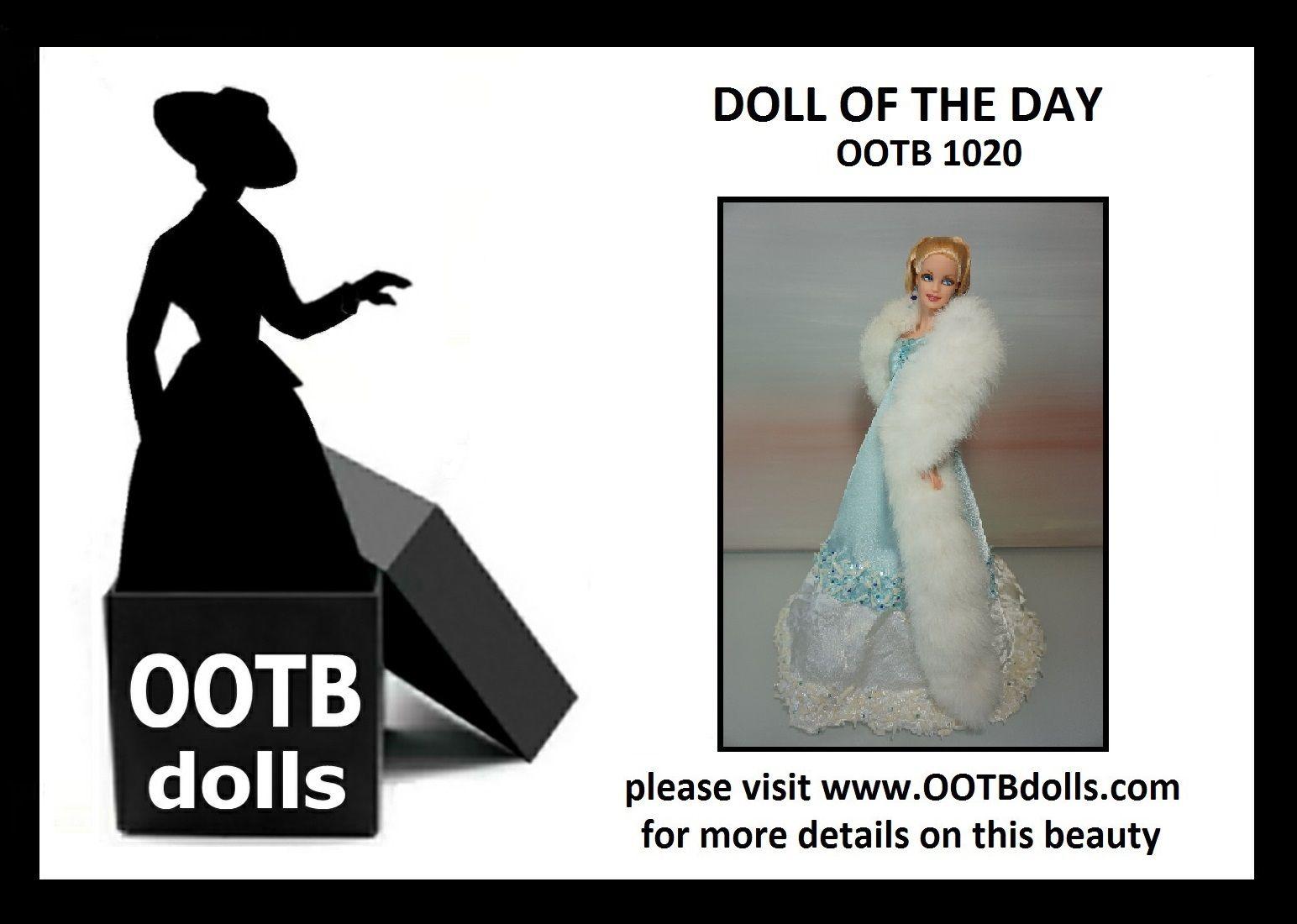 """06.20.14 - Guess what theme the upcoming NBDCC Nashville is? """"Everyday is a Holiday"""", and this doll OOTB 1020 that we are previewing today is definitely in time to bring winter to the convention with her fabulous fur! Enjoy!  Please visit our website for more details on this beauty! www.OOTBdolls.com"""