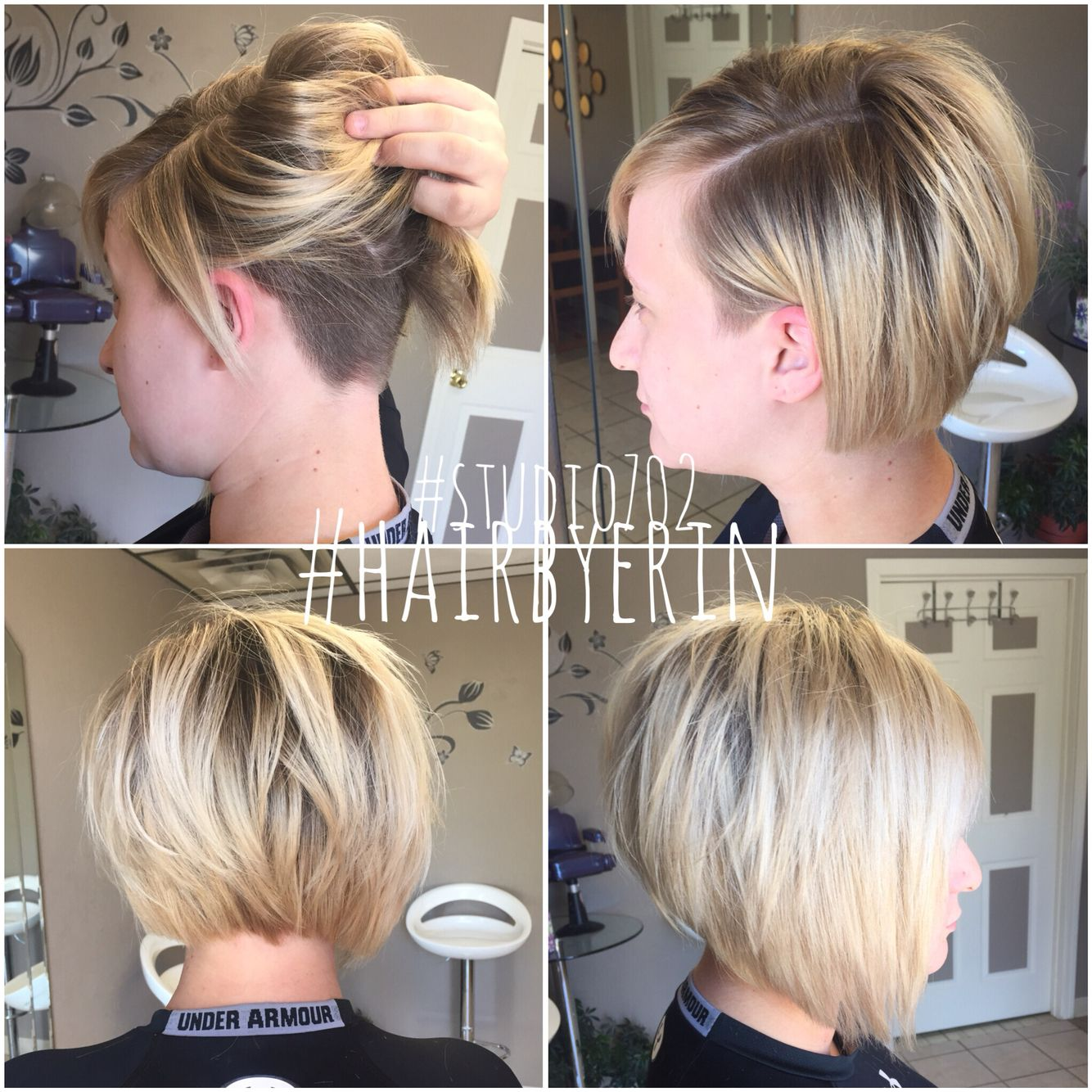 Undercut Studio702 Hairbyerin Thick Hair Styles Undercut Long Hair Choppy Bob Hairstyles