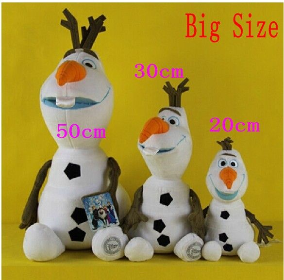 Big Size 50 Cm 2014 Frozen Olaf Snowman New Coming Olaf Plush Doll