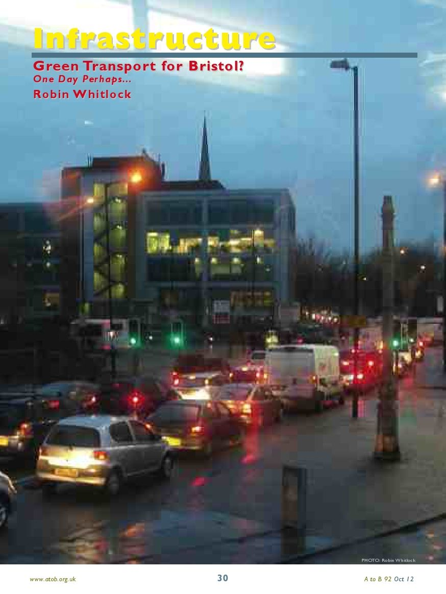 Article on green transport in Bristol for AtoB magazine