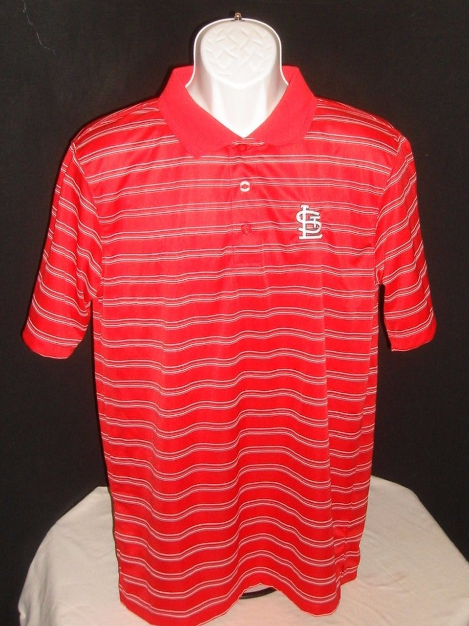 True Fan St Louis Cardinals Red Ss Polo Shirt By Genuine