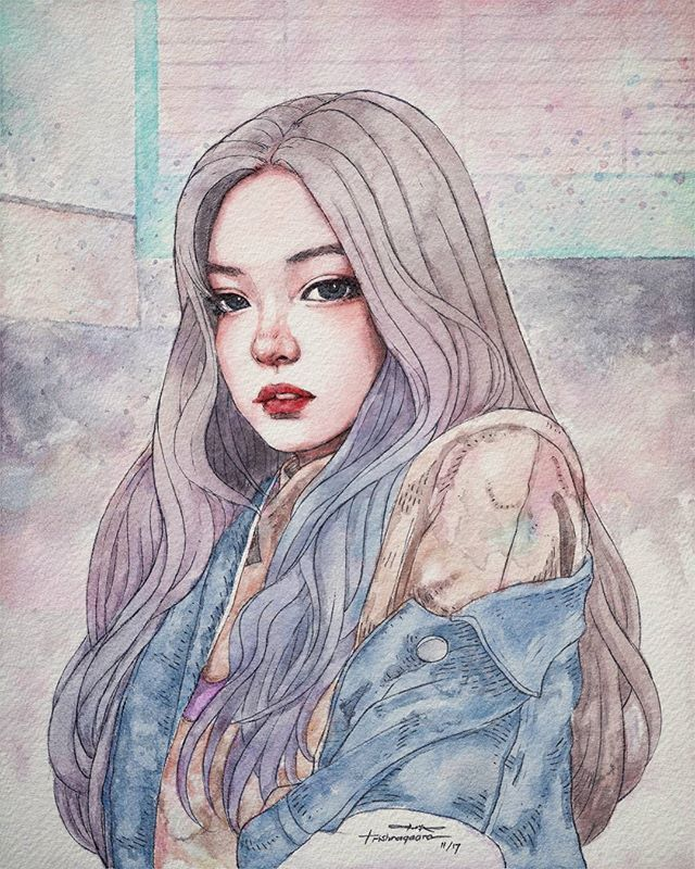 trishnagaara's #artoftheday Instagram photo created at 25/11/2017 06:10 - Who are you to make me keep thinking of you? ~Because you are Jennie #jennieblackpink #blackpink #