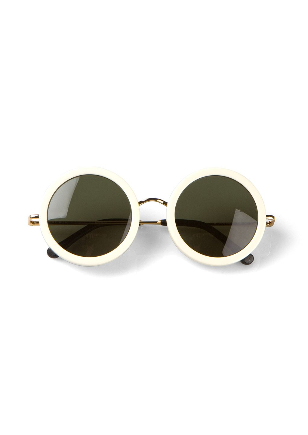 the row white round sunglasses vnd liked on polyvore featuring accessories eyewear sunglasses glasses round frame sunglasses white sunglasses
