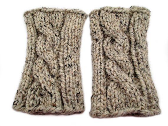 Cable Knit Boot Cuff Knitting Pattern Patience Thick Quick