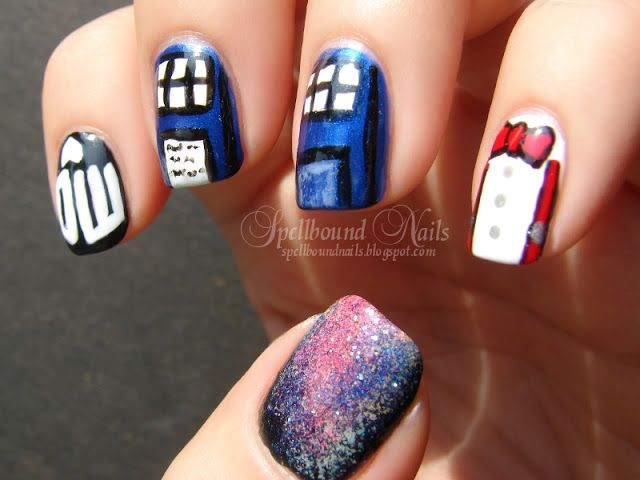 nails nailart nail art mani manicure Spellbound Doctor Who Tardis ...