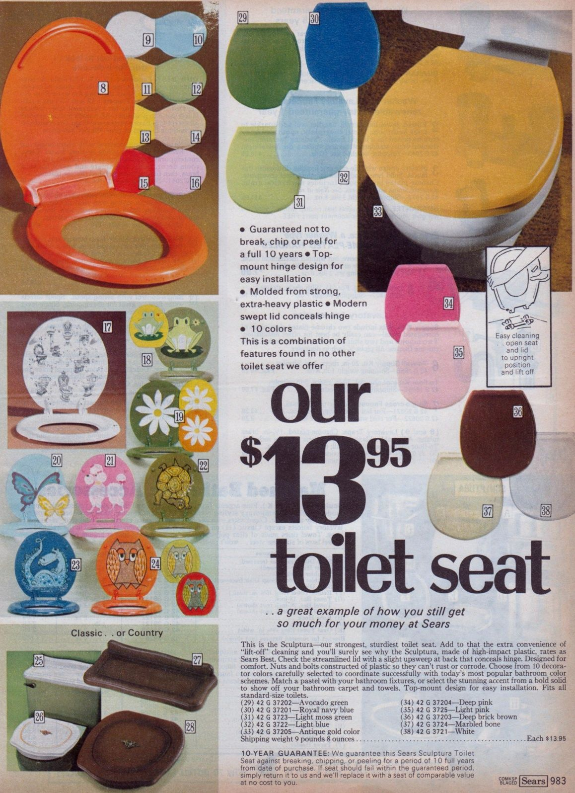 Sears Bathroom Accessories 70s Sears Catalogue Toilet Seats Ministry Of Interiors