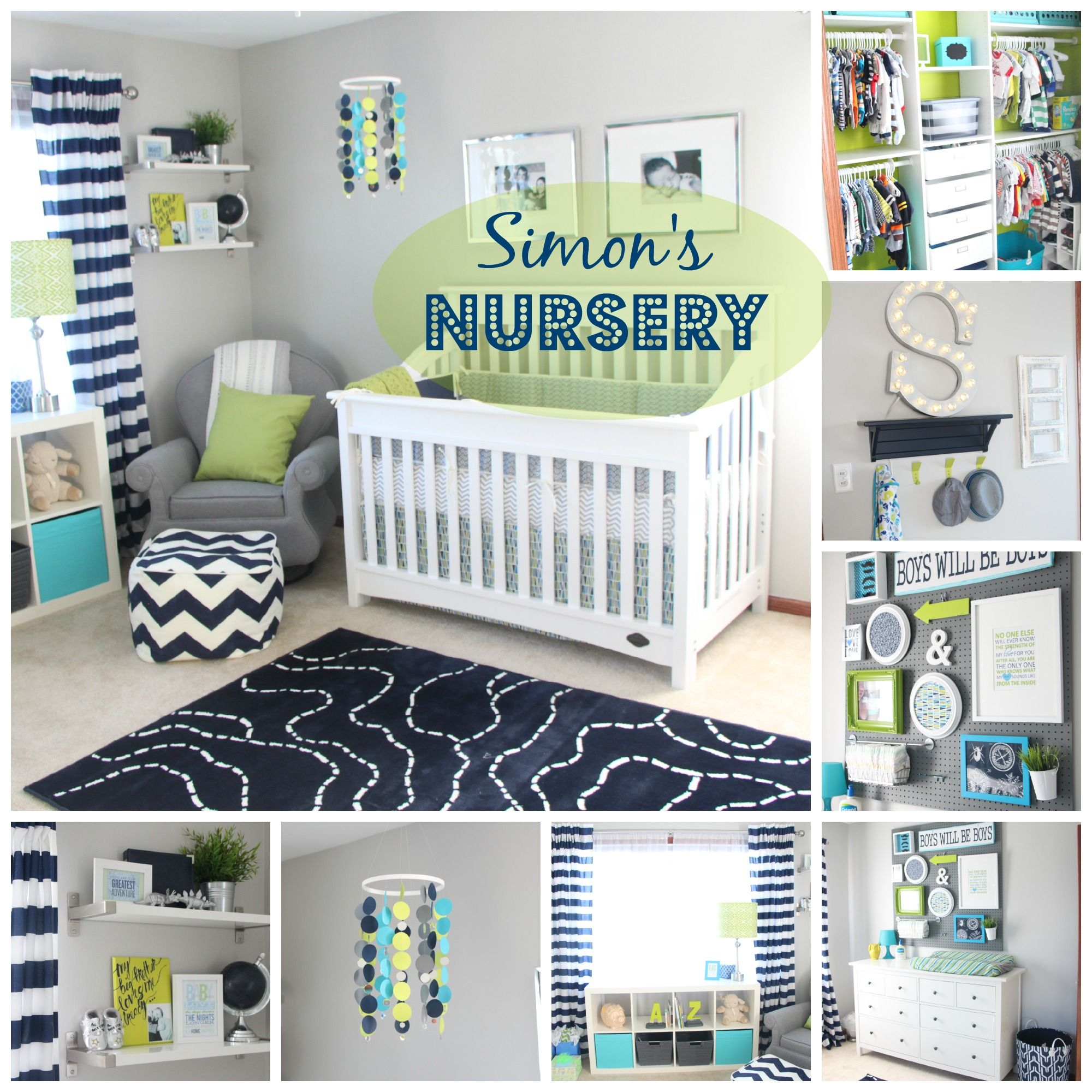 Diy Nursery Decorations Navy Green Gray Photos Details