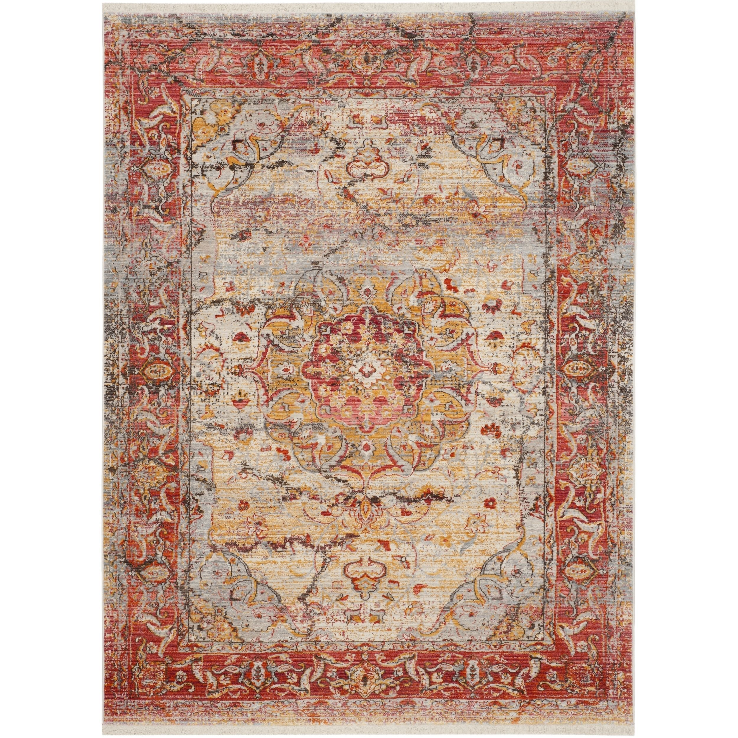 Safavieh Vintage Persian Pink/ Multi Polyester Rug (8u0027 x 10u0027) by Safavieh