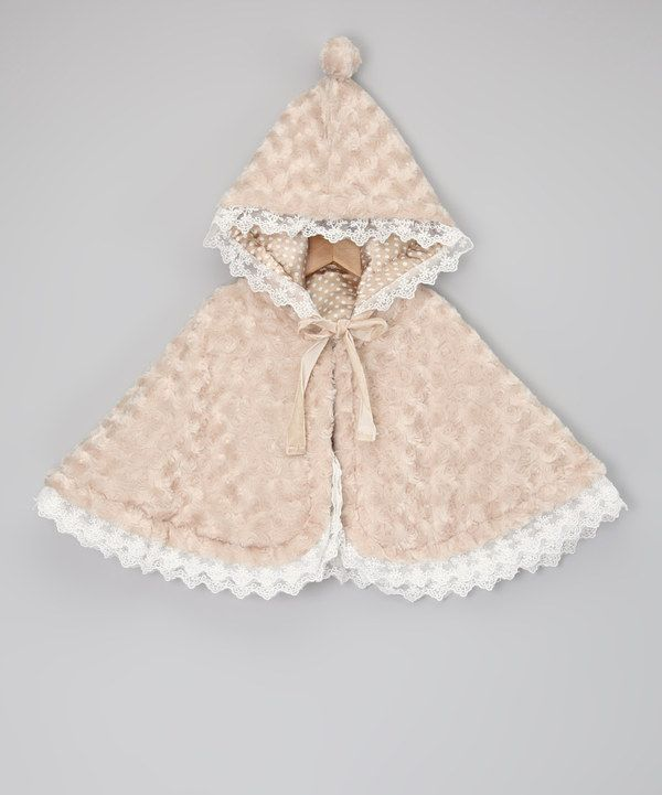 f9481fd5d5ec4 Take a look at this Beige Minky Swirl Reversible Cape - Infant ...