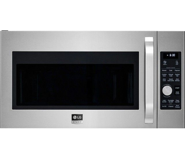 Lg Studio 1 7 Cu Ft Convection Over The Range Microwave With Sensor Cooking Stainless Steel Lsmc3086st Best Buy Convection Microwaves Range Microwave Microwave