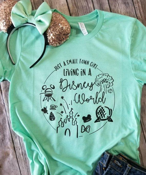 2b42361a Disney shirts - Living in a Disney World Shirt - Disney Shirts for women -  Disney Family Shirts - Di