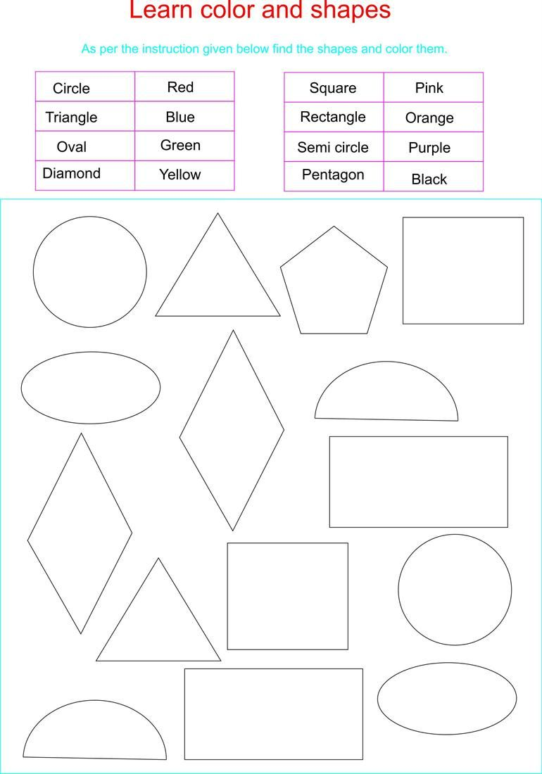 worksheet Learning Shapes toddler learning shapes and colors learn together