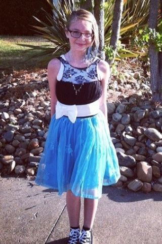 My cousin made this dress for her 5 grade graduation!! U are Rocking it girl!!!
