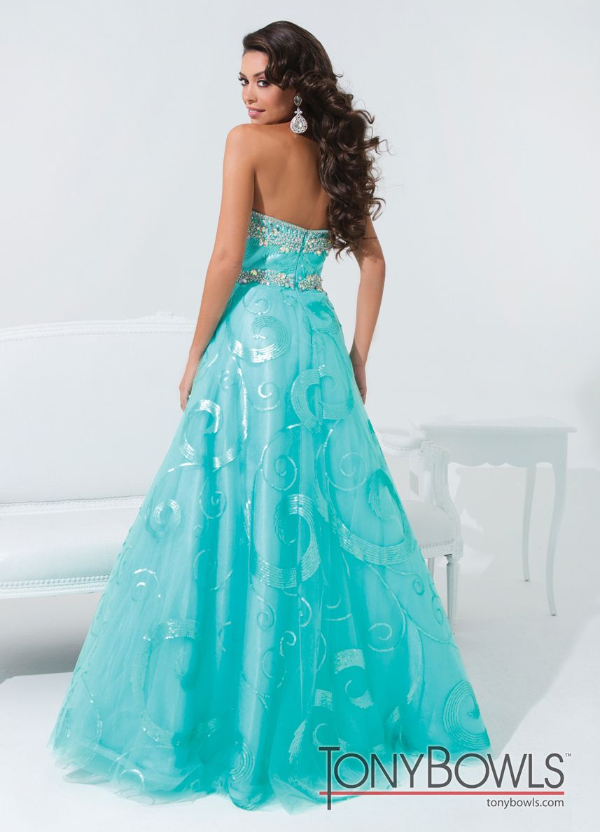 Tony Bowls Pattern Ball Gown 114543 - More Colors Available ...