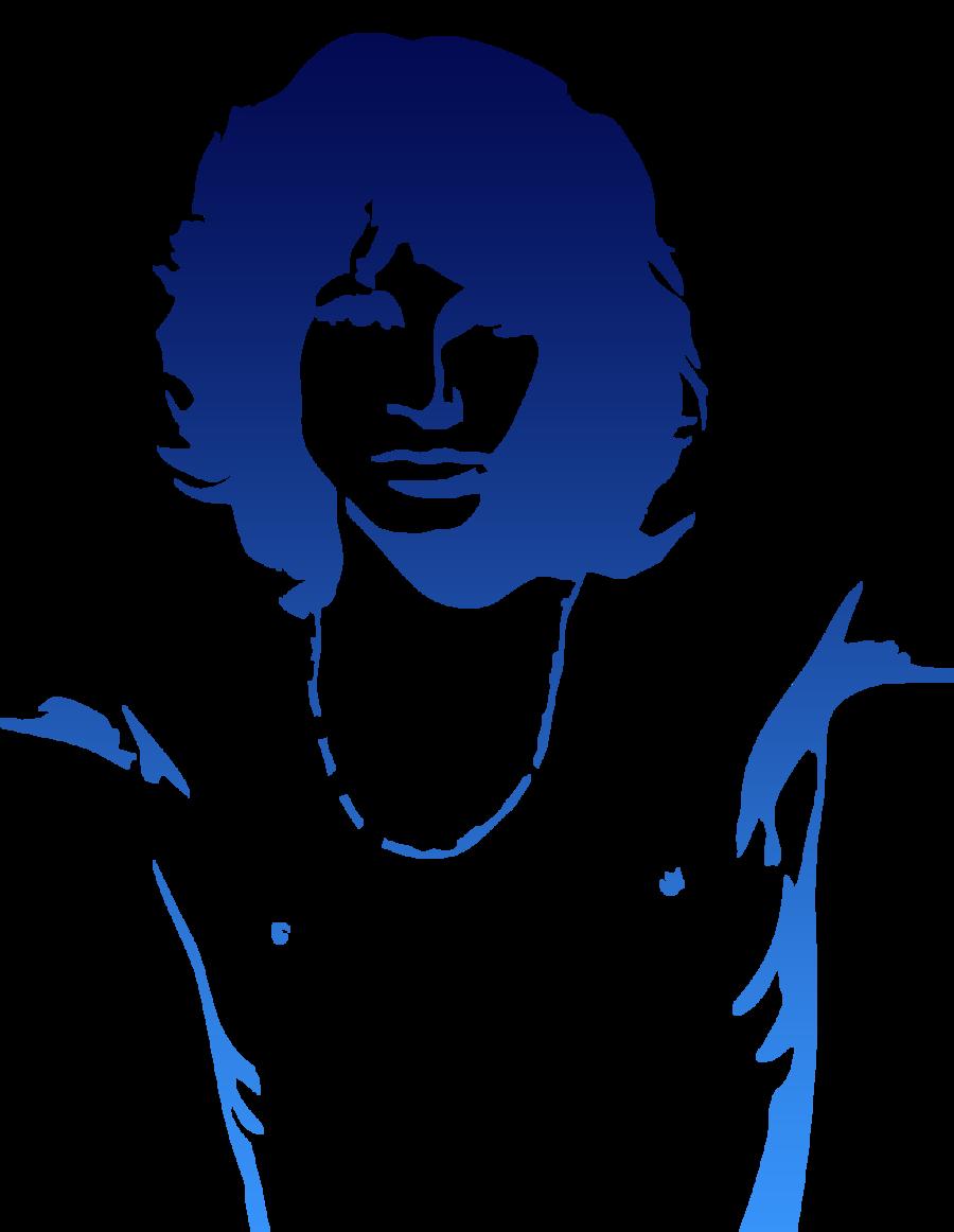 Jim Morrison Silhouette Art Jim Morrison Silhouette Stencil