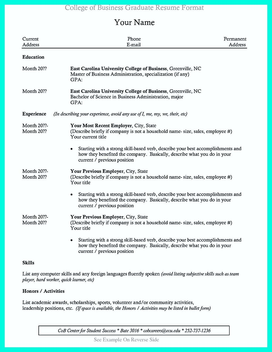 Resume For College Graduate Nice Cool Sample Of College Graduate Resume With No Experience