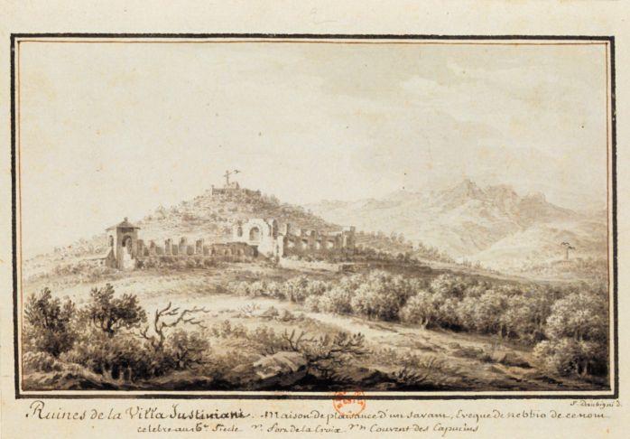 1779 - Ruines de la Villa Justiniani (sic), Maison de plaisance d\u0027un