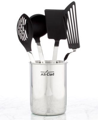 All Clad Nonstick 5 Piece Kitchen Utensil Crock Set | Macys.com