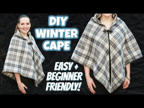 How to Make a Winter Cape Easy! | Sewing Projects for Beginners | DIY -   19 DIY Clothes For Winter fabrics ideas