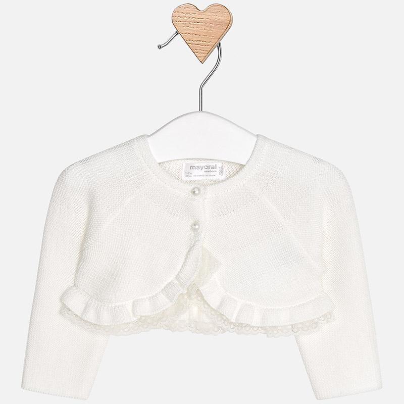 8341cb462491 Mayoral baby girl dressy knit cardigan