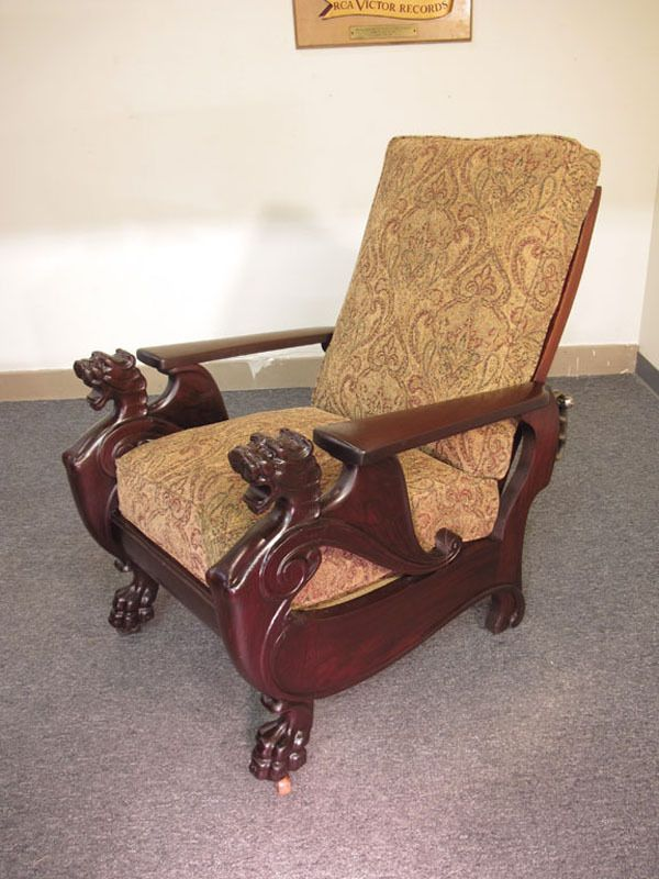 vintage morris chair morris mahogany winged griffin chair rjhornergeorgecflint 3249