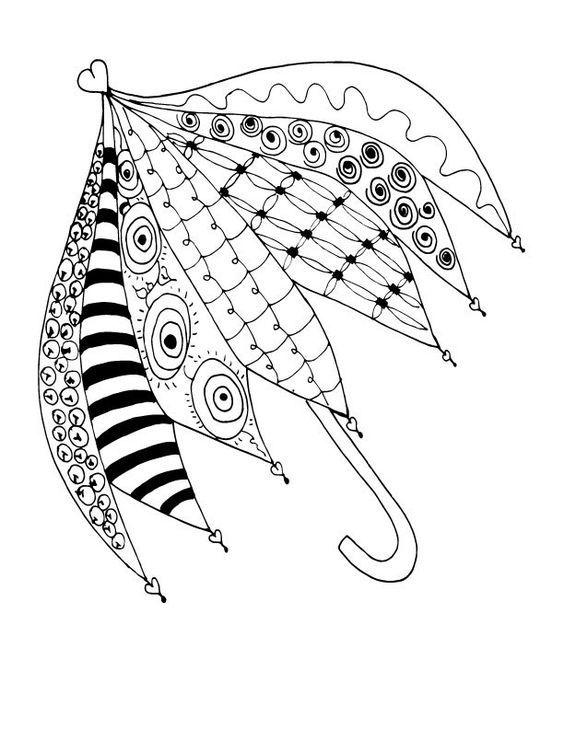 Зонт с узорами   Раскраски, Узоры