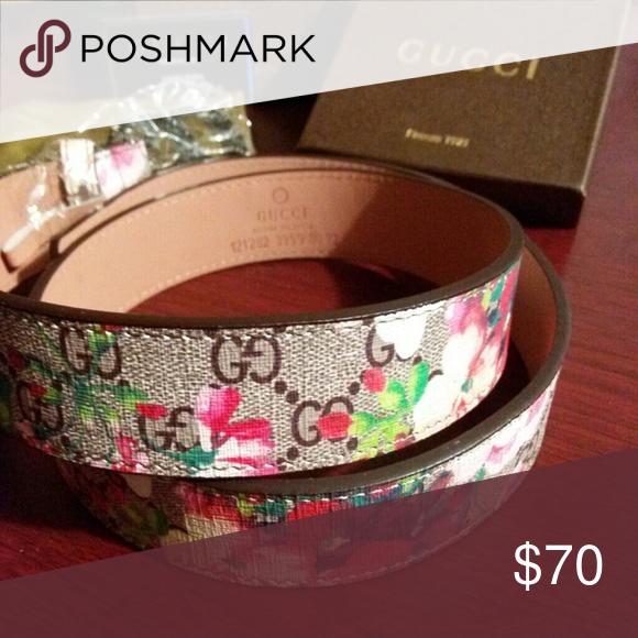 f68937ea91a Flower Gucci belt Flower print Gucci Accessories Belts