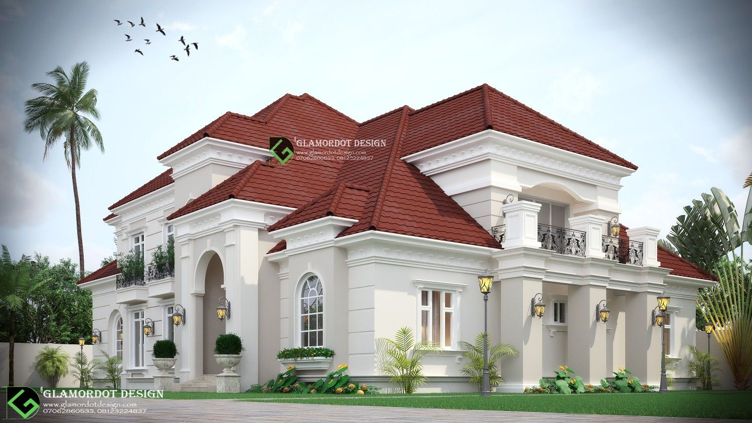 Architectural Design Of A Proposed Classical 5 Bedroom Bungalow With Pent House And Double Volume Li Bungalow Style House Best Modern House Design House Design