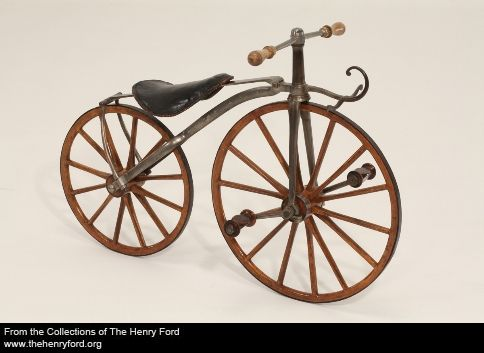 a little humor...1869 Bike for the real Tom Thumb.   The American Cyclecar magazine catered to motorists devoted to this type of small car. A cyclecar was a slim, lightweight, and economical vehicle usually powered by a one- or two-cylinder engine. In the mid-1910s, at the height of the cyclecar fad in America, proponents could learn about the vehicle by reading this and other similar magazines & journals. Creator: Charles P. Root & Co.