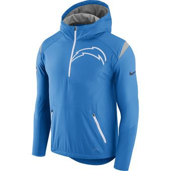 timeless design a3cba 7c7d4 Nike Los Angeles Chargers Light Blue Fly Rush Half-Zip ...