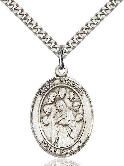 """St. Felicity Sterling Silver 1"""""""