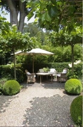 Zithoek met grind jardines patios terrazas for Paisajismo terrazas