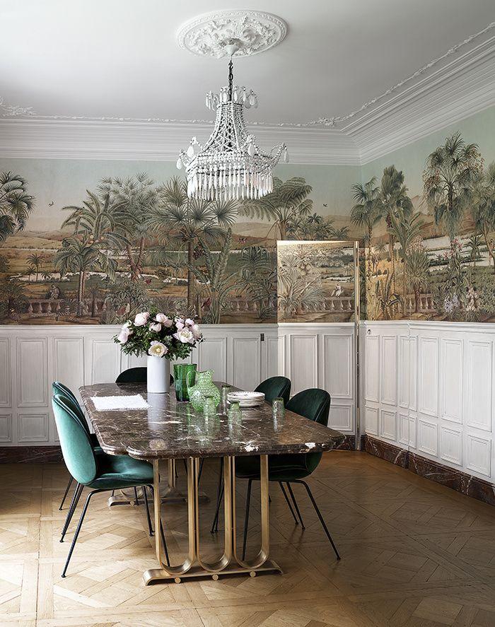 les plus beaux papiers peints publi s dans ad wallpaper. Black Bedroom Furniture Sets. Home Design Ideas