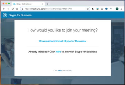 Skype for Business desktop now available as web download