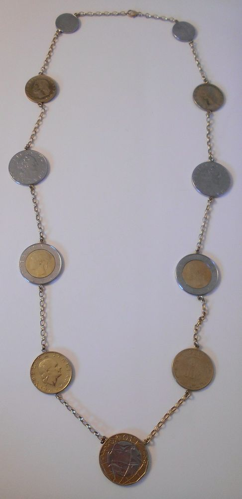 Milor Italy 14k 14 Karat 585 Gold Italian Coin Chain Necklace 28 Inches Long Milor Chain Gold Necklace