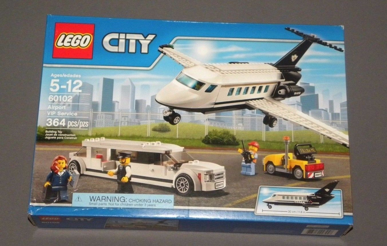 LEGO CITY Airport VIP Service Set W Limo Plane Limousine 60102 NEW Sealed