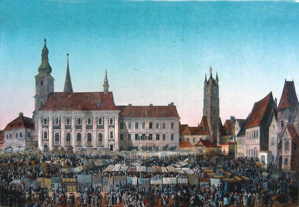 Franz Neuhauser: Targ in Piata Mare (1789)