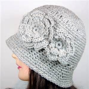50785589114 Free Crochet Cloche Hat Pattern with Flower - Bing images