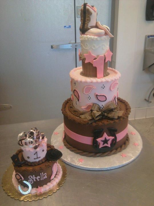Magnificent Little Cowgirl Cake And I Love The Name Stella With Images Personalised Birthday Cards Bromeletsinfo