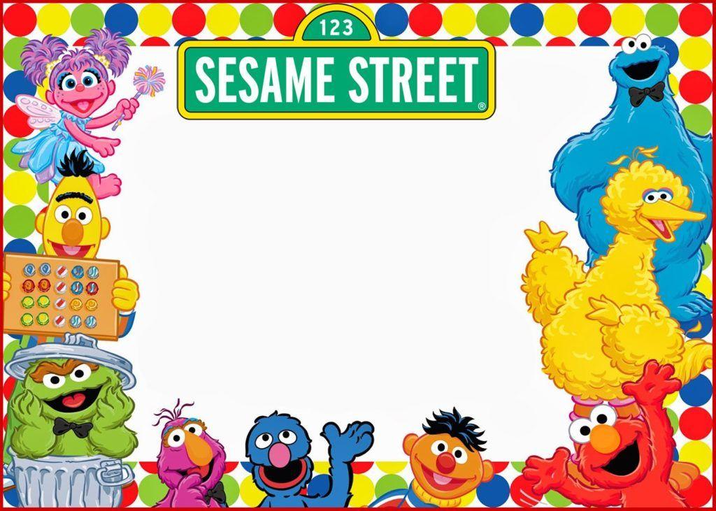 Elmo and sesame street birthday party invitation sesame